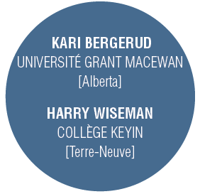 KARI BERGERUD : UNIVERSITÉ GRANT MACEWAN [Alberta], HARRY WISEMAN : COLLÈGE KEYIN [Terre-Neuve]