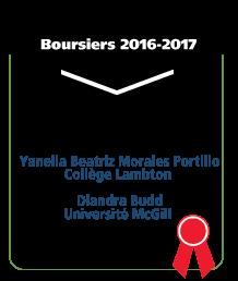 Yanella Beatriz Morales Portillo, Collége Lambton. Diandra Budd, Université McGill