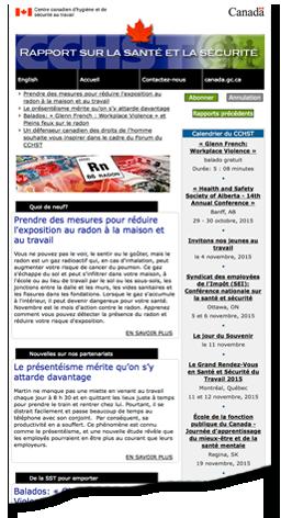 Le rapport sur la santé et la sécurité collage