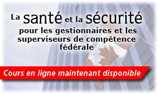 La Santé et la Sécurité pour les gestionnaires et les superviseurs de compétence fédérale - Cours en ligne maintenant disponible