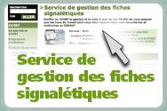Service de gestion des fiches signalétiques