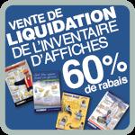 Vente de liquidation de l'inventaire d'affiches 60% de rabais