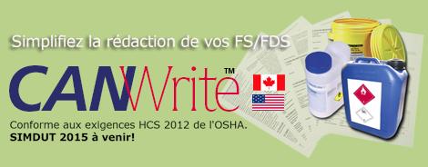 Simplifiez la rédaction de vos FS/FDS. Conforme aux exigences HCS 2012 de ROSHA. SIMDUT 2015 à venir!