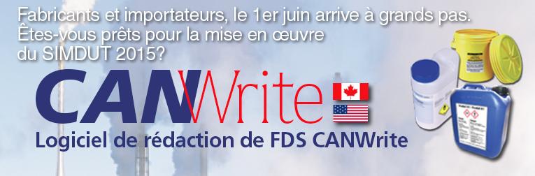 CANWrite - Logiciel de rédaction de FDS CANWrite