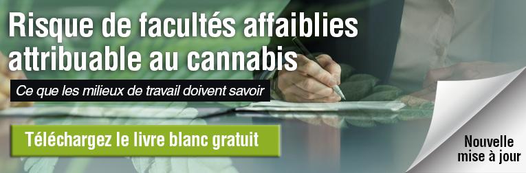 Risque de facultés affaiblies attribuable au cannabis. Ce que les milieux de travail doivent savoir. Téléchargez le livre blanc gratuit. Nouvelle mise à jour