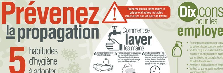Document infographique : Prévenez la propagation