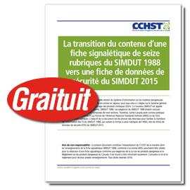 Livre blanc gratuit sur la transition des FS aux FDS dans le cadre du SIMDUT 2015