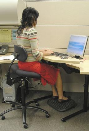 Figure 1 - Bien s'asseoir sur une chaise à basculement