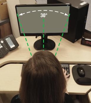 Figure 2 - L'angle de vision