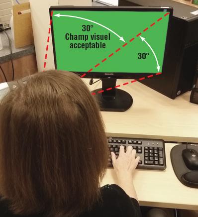 Figure 3 - Champ visuel acceptable