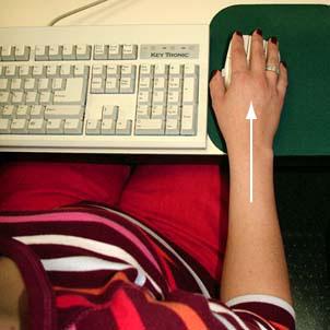 Figure 6 - Tenir le poignet bien droit