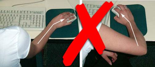Figure 7 - Ne pas plier le poignet