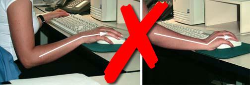 Figure 9 - Ne pas plier le poignet