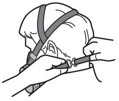 Procédure pour mettre en place un appareil de protection respiratoire à demi-masqu