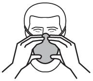 Mise en place d'un appareil de protection respiratoire jetable