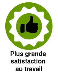 Plus grande satisfaction au travail