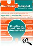 Carte info-éclair sur la courtoisie et le respect au travail