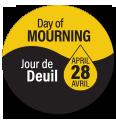 Épinglette commémorative du Jour de deuil national