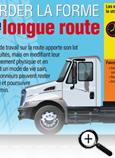 Carte info-éclair sur garder la forme sur la longue route