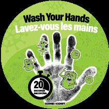 Relativ Autocollant sur le lavage des mains DU58