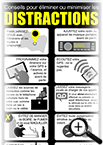 Document infographique sur la distraction au volant