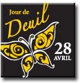 �pinglette comm�morative du Jour de deuil national (Papillon)