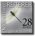 �pinglette comm�morative du Jour de deuil national (Libellule)