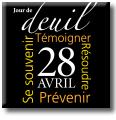 Épinglette commémorative du Jour de deuil national (Larme/Flamme)