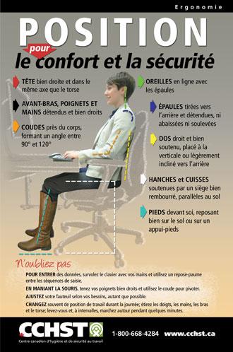 Cchst produits et services position pour le confort et la s curit - Jeu de travail au bureau ...