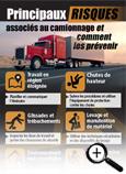 Carte info-éclair sur les principaux risques associés au camionnage