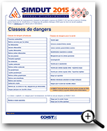 Image : Classes de dangers