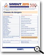 Image : Classes de dangers