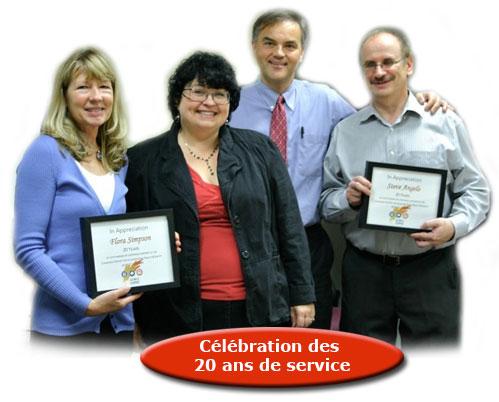 Célébration des 20 ans de service