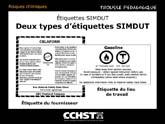 Deux types d'étiquettes SIMDUT