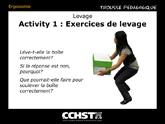 Activité 1: Exercices de levage